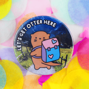 Cute outdoors otter badge