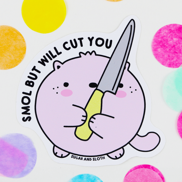 Stabby cute sticker