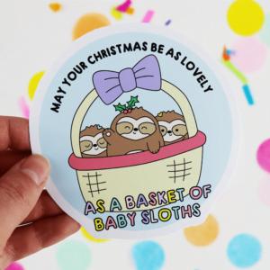 Christmas Sloth sticker
