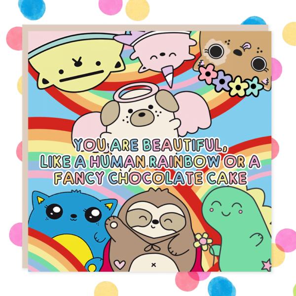 beautiful cake card