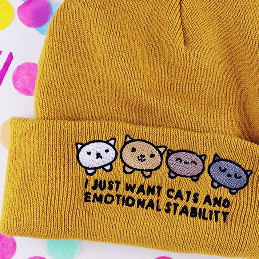 I Just Want Cats and Emotional Stability Beanie