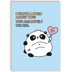 Cute panda poem
