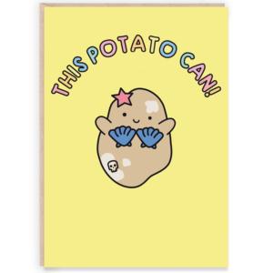 This potato can cute congratulations card