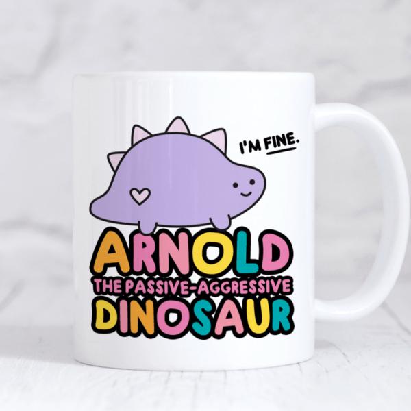 arnold dinosaur mug