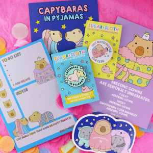 Capybaras in Pyjamas Tiny Party Club box