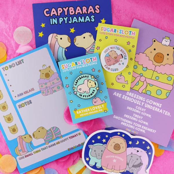 Capybaras in Pyjamas Tiny Party Club box