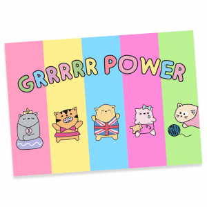 Grrrr Power Postcard