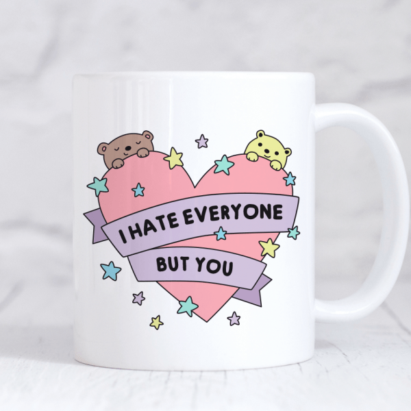 Cute and funny valentines mug