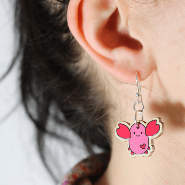 cute lobster earrings