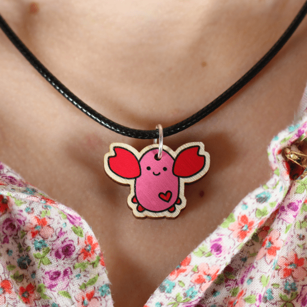 cute lobster necklace