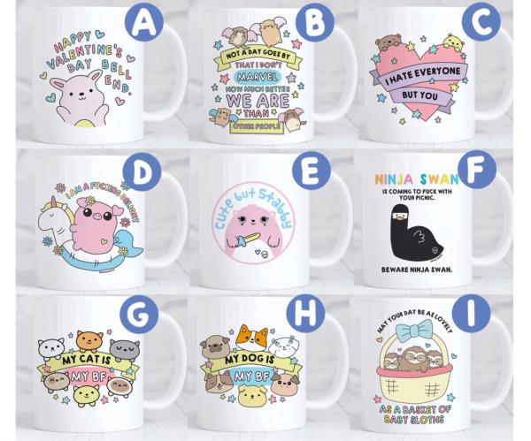 Valentines Day Cute mugs