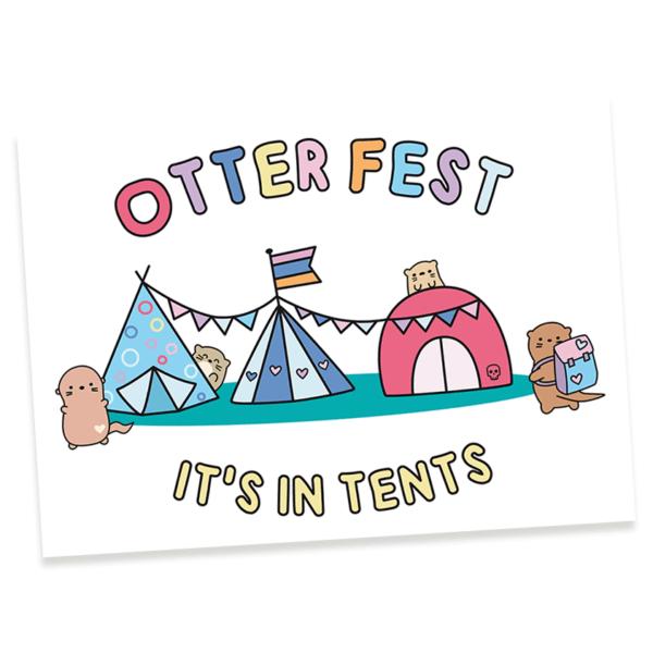 otter fest postcard