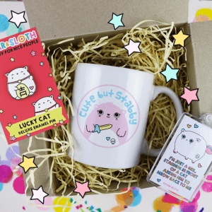 cat lady gift set mug