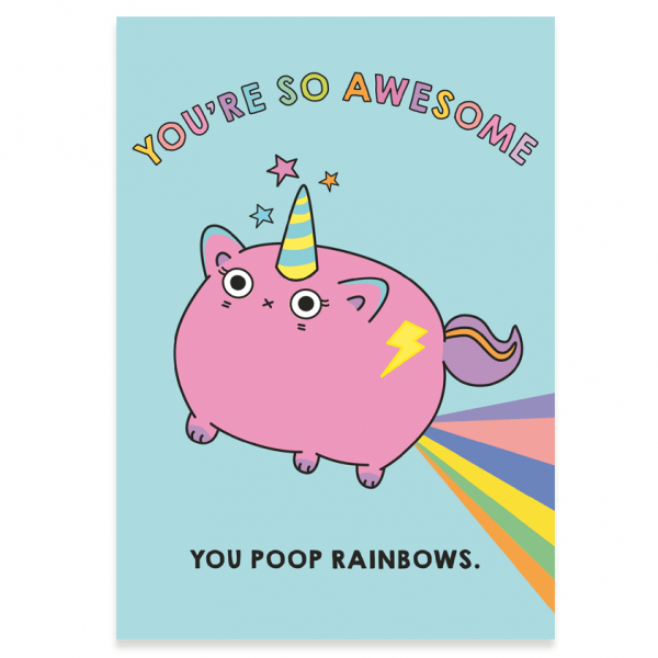 You're so awesome postcard