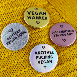 Funny Vegan Button Badges