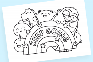 Keep Going rainbow print out