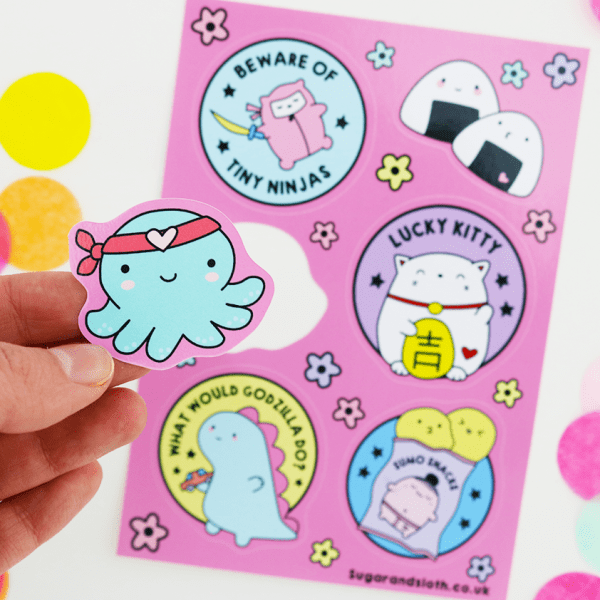 tiny tokyo sticker sheet