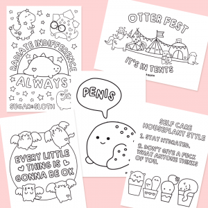 Colouring sheet downloads cute funny