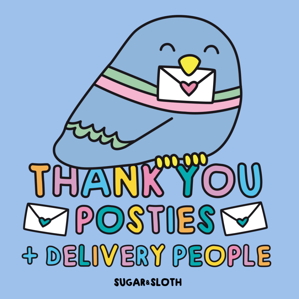 Thank you posties key worker poster