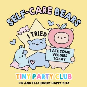 self care bears tiny party club box
