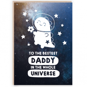 Space dino daddy card