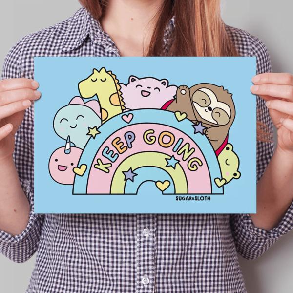 Keepy Going Rainbow Poster