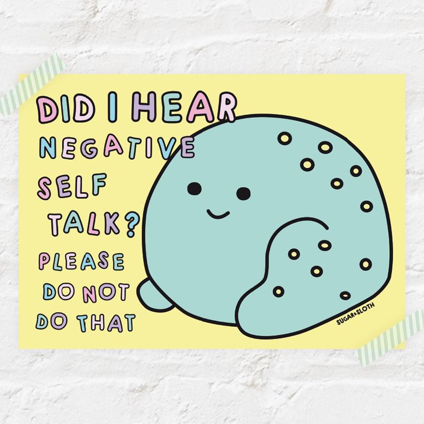 Did I hear negative self talk frog