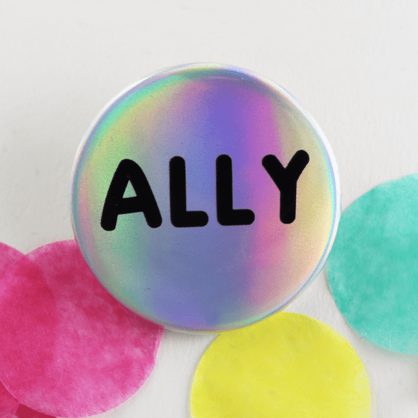 holographic ally badge