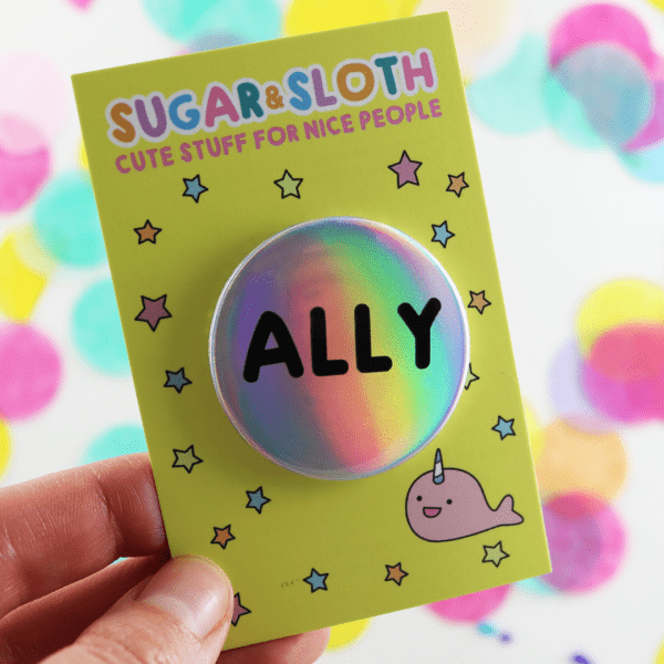 holographic ally badge pride