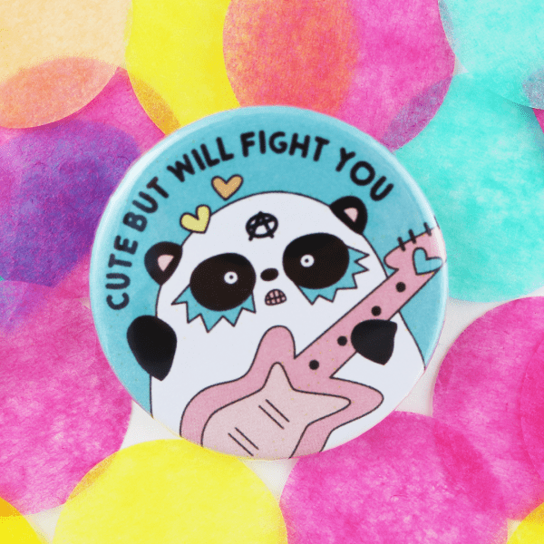 cute panda badge