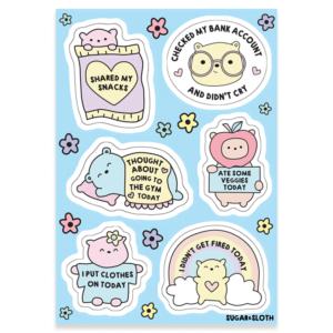 Adult reward sticker sheet