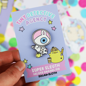 Tiny Party Club enamel pin subscription box