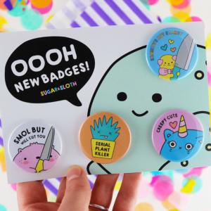 Halloween cutie button badge spoopy