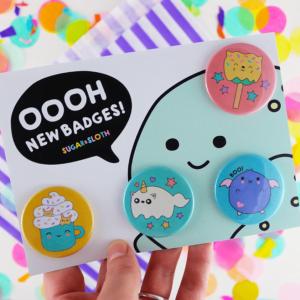 Halloween badges cute buttons