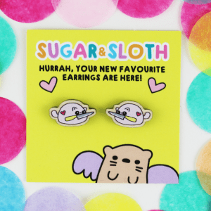 Cute but stabby kitten earrings