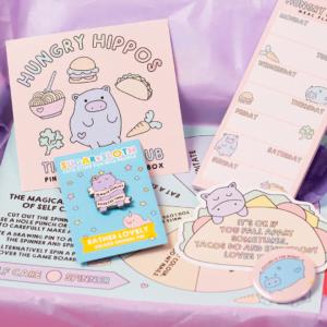 cute enamel pin gift box subscription