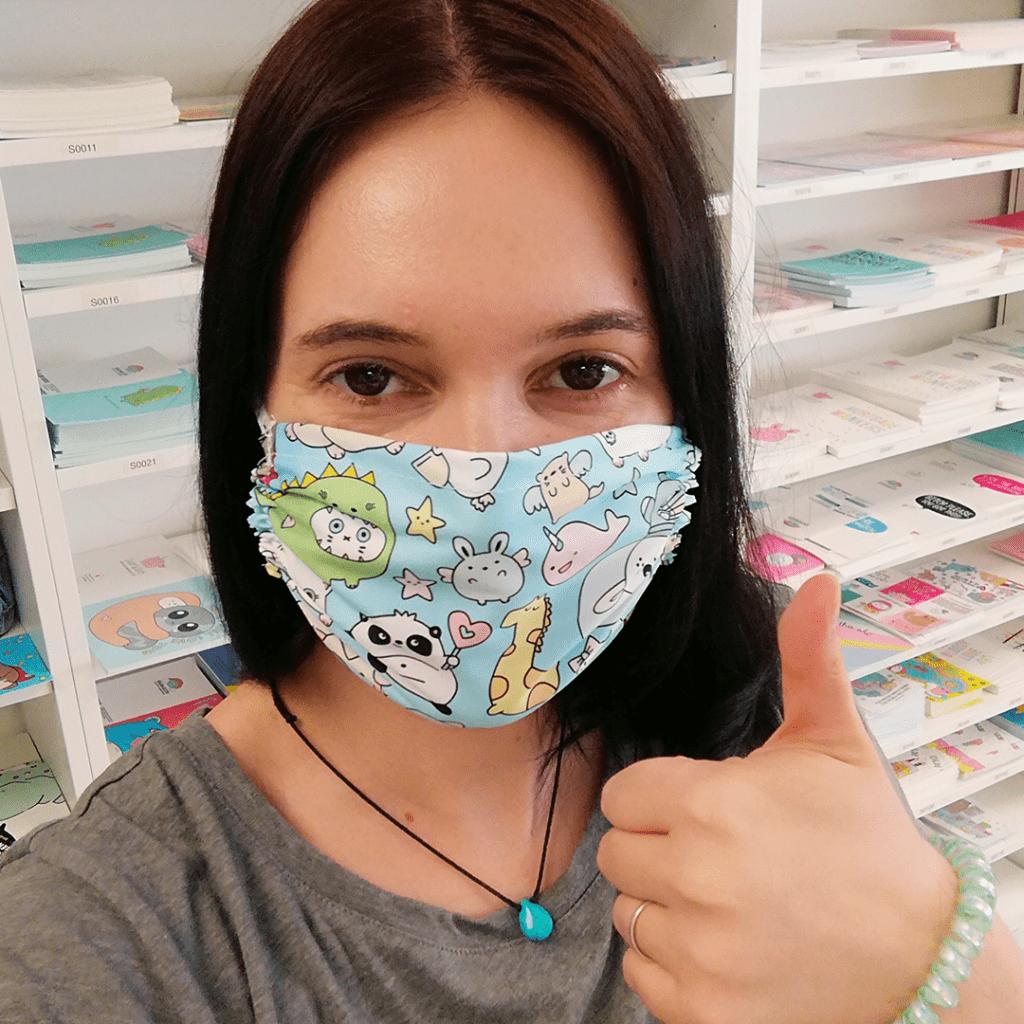 Cute fabric reusable face mask