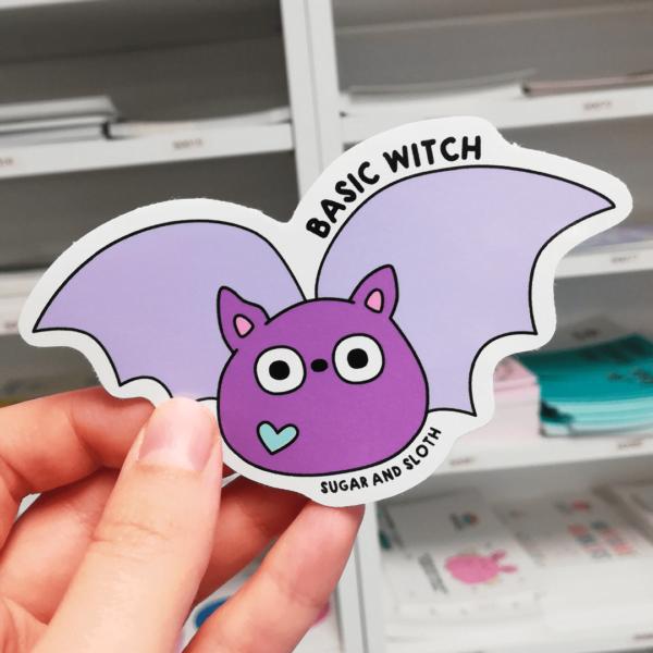 basic witch halloween sticker