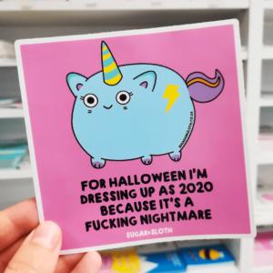 Halloween funny sticker