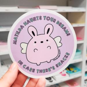 spooky bunny sticker