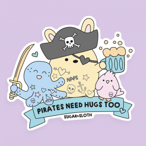 pirate bunny sticker