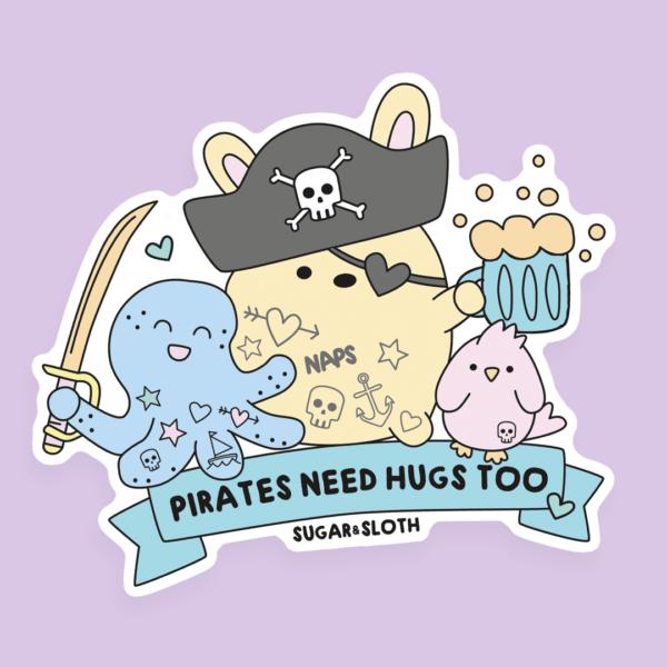 pirate bunny sticker