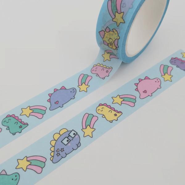 cute dinosaur washi tape