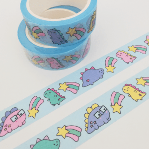 cute dinosaur washi tape
