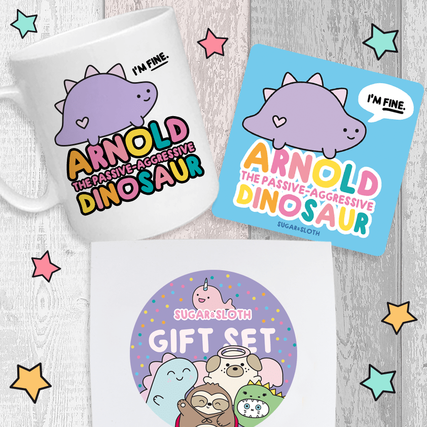 Funny cute anxiety gift set