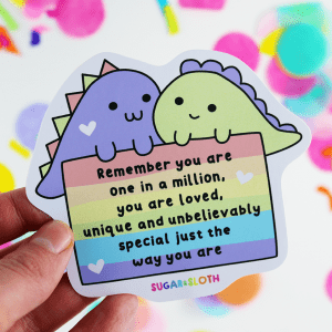 cute pride dinosaur sticker