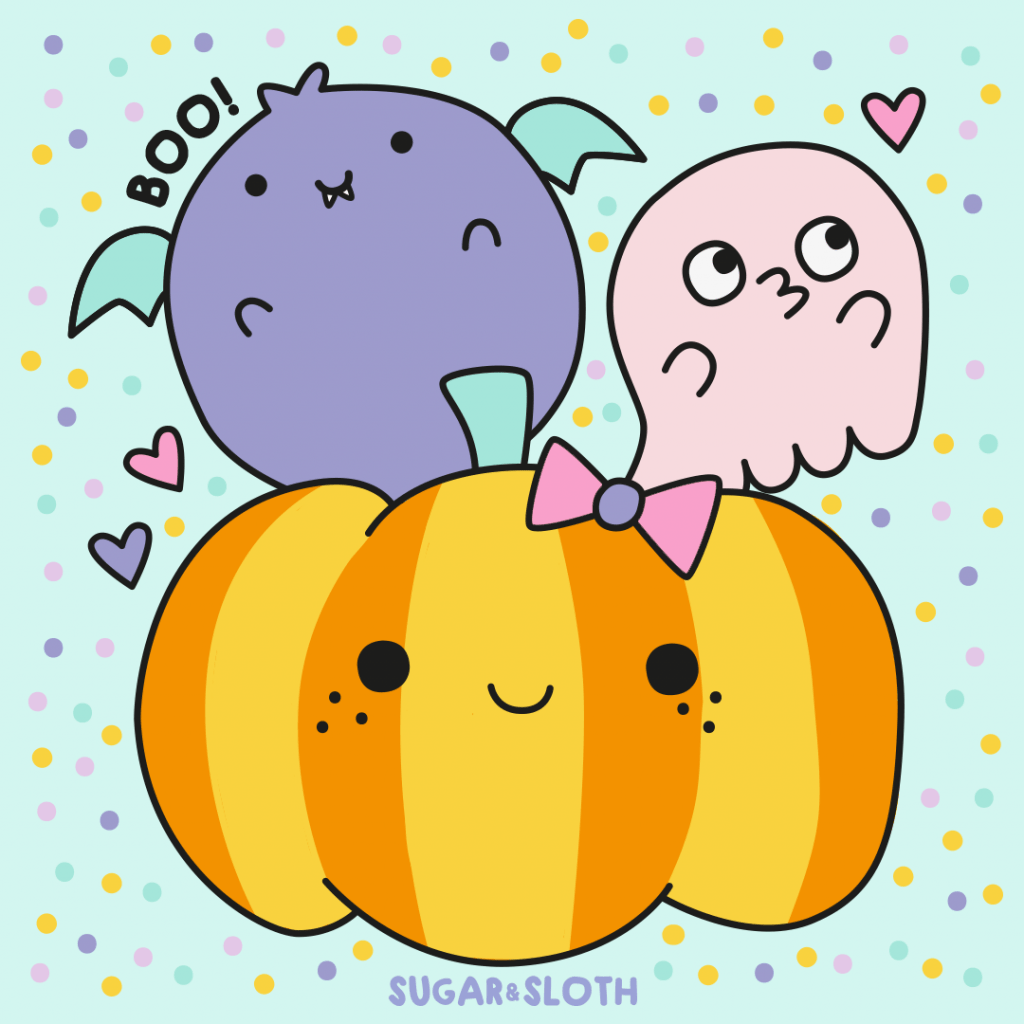 spoopy halloween colouring sheet