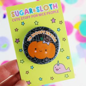 Tis Spoopy Season button halloween badge