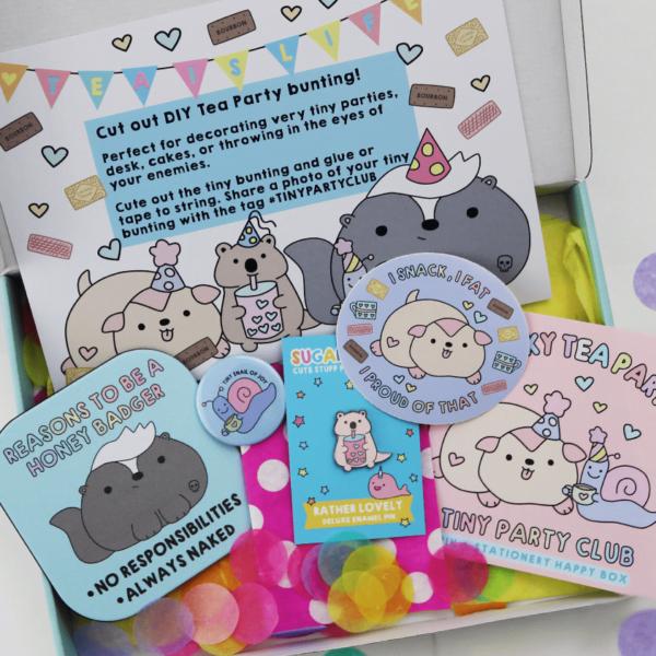 Chonky tea party tiny party club subscription box