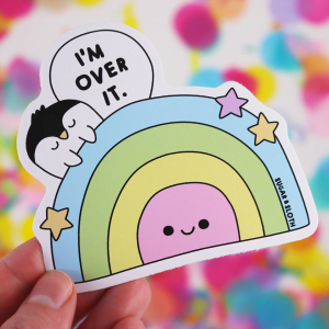 I'm over it penguin sticker